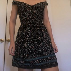 Mini floral dress with straps
